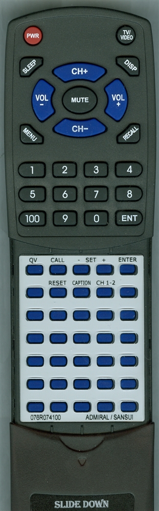 SANSUI 076R074100 Custom Built  Redi Remote