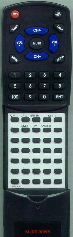SANSUI 076R074180 Custom Built Redi Remote