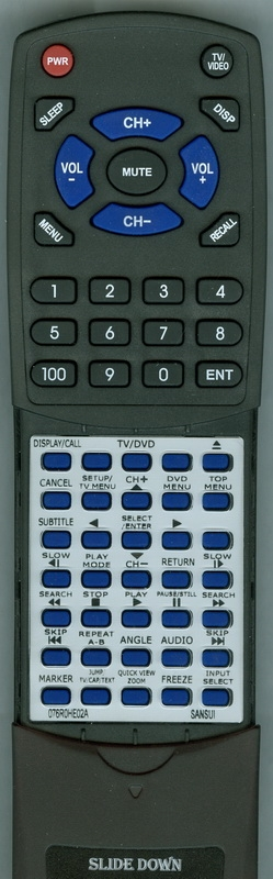 SANSUI 076R0HE02A Custom Built Replacement Redi Remote