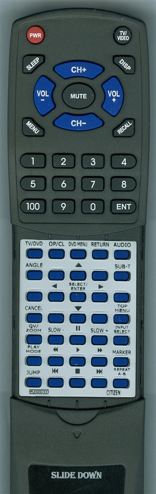 SANSUI 8520000333 076R0DT160 Custom Built Redi Remote