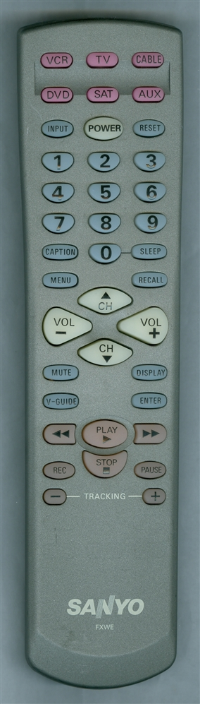 SANYO 645 053 7486 FXWE Genuine  OEM Original Remote