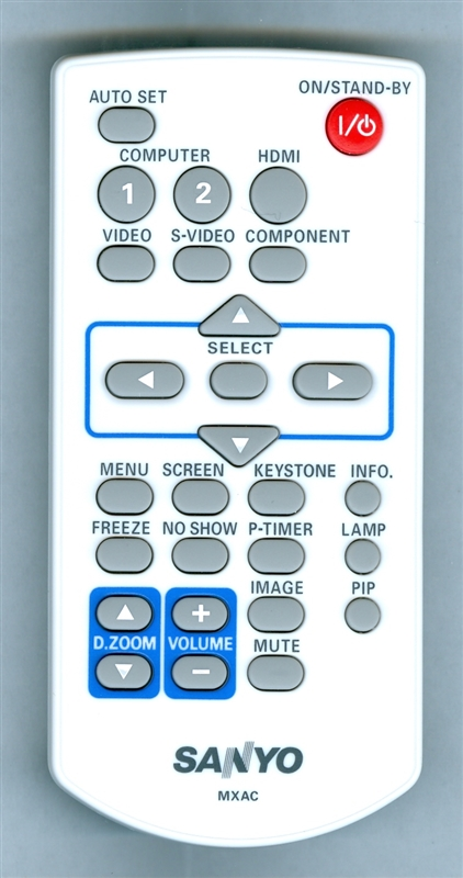 SANYO 645 099 3190 MXAC Genuine OEM Original Remote