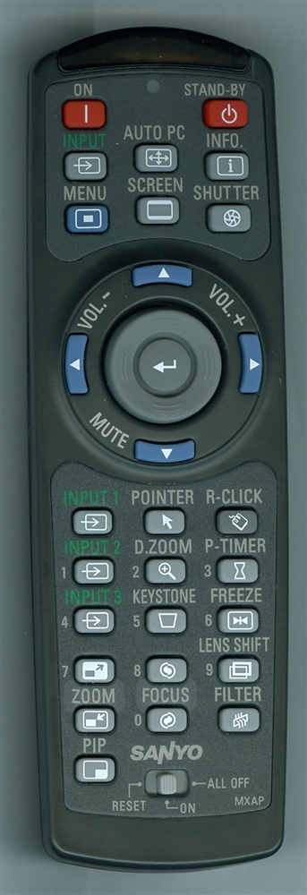 SANYO 645 103 0191 MXAP Genuine  OEM Original Remote