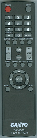 SANYO 8TV398GRABD2 Genuine  OEM Original Remote