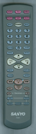 SANYO FXWH Genuine OEM Original Remote