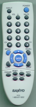 SANYO GXCA Genuine  OEM Original Remote