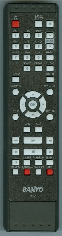 SANYO NC184UH Genuine OEM Original Remote