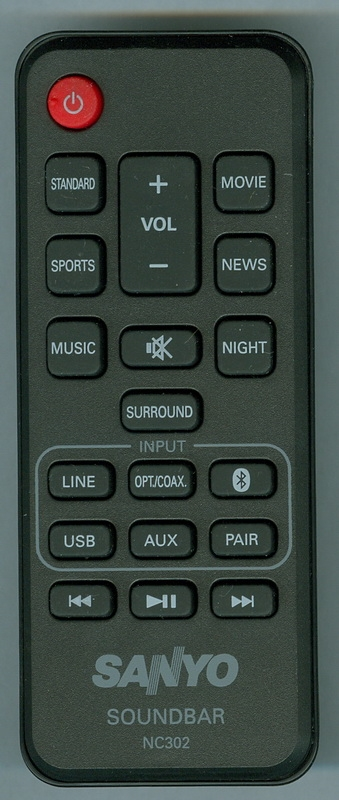 SANYO NC302UH Genuine OEM Original Remote