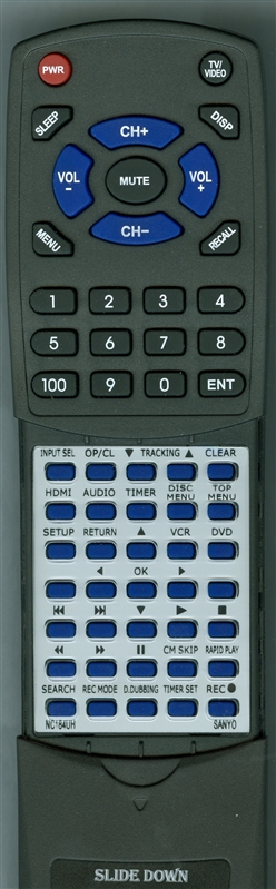 SANYO NC184UH Custom Built Redi Remote