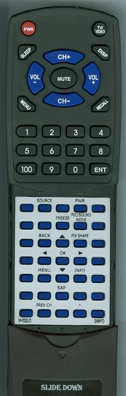 SANYO NH002UD Custom Built Replacement Redi Remote