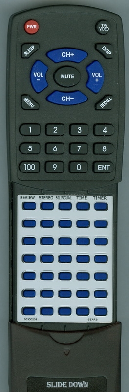 SEARS 86350269 Custom Built Redi Remote