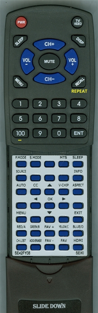 SEIKI SE42FY08 Custom Built Replacement Redi Remote