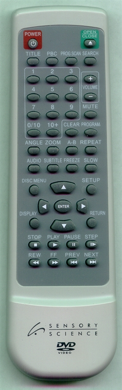 SENSORY SCIENCE SD10404RM Genuine OEM Original Remote