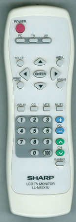 SHARP LL-M15X1U Genuine  OEM Original Remote