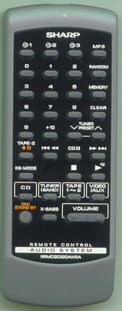SHARP RRMCG0320AWSA Genuine OEM Original Remote
