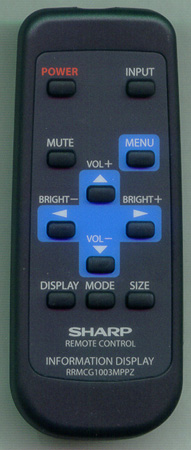 SHARP RRMCG1003MPPZ Genuine OEM original Remote