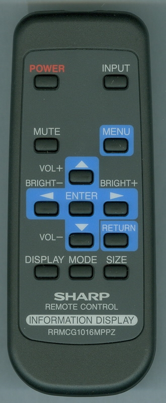 SHARP RRMCG1016MPPZ Genuine OEM Original Remote
