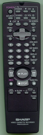 SHARP RRMCG1236AJSA Genuine OEM Original Remote