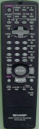 SHARP RRMCG1236AJSB Genuine  OEM original Remote