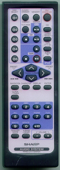 SHARP RRMCGA173AWSA Genuine  OEM original Remote