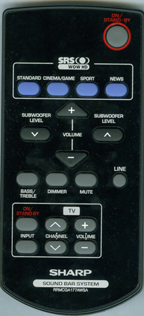 SHARP RRMCGA177AWSA Genuine OEM original Remote