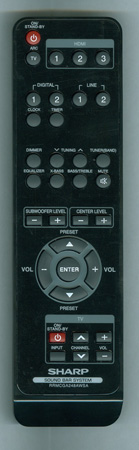SHARP RRMCGA248AWSA Genuine OEM Original Remote