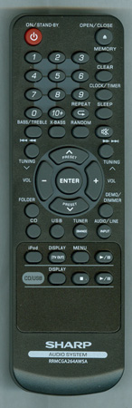 SHARP RRMCGA293AWSA<B>Genuine OEM Original Remote