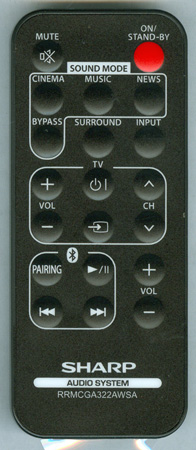 SHARP RRMCGA322AWSA Genuine  OEM Original Remote