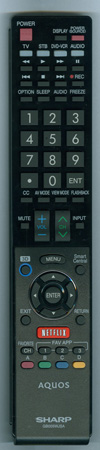 SHARP RRMCGB005WJSA GB005WJSA Genuine  OEM Original Remote