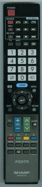 SHARP RRMCGB039WJSA Genuine OEM Original Remote