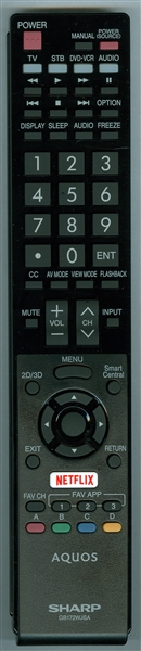 SHARP RRMCGB172WJSA GB172WJSA Genuine OEM Original Remote