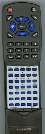 SHARP 9JD076B0MQ051 076B0MQ051 Custom Built Redi Remote