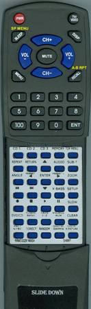 SHARP RRMCG0291AWSA RRMCG0291AWSA Custom Built Replacement Redi Remote