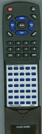SHARP RRMCG1018CESB G1018CESB Custom Built Redi Remote