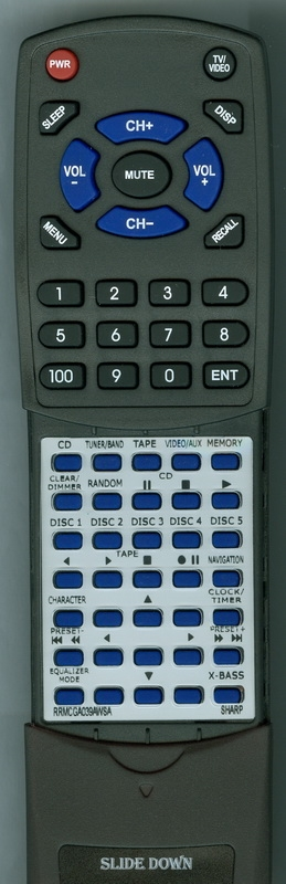 SHARP RRMCGA039AWSA Custom Built  Redi Remote
