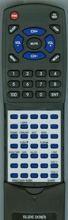 SHARP RRMCGA251AWSA Custom Built Redi Remote