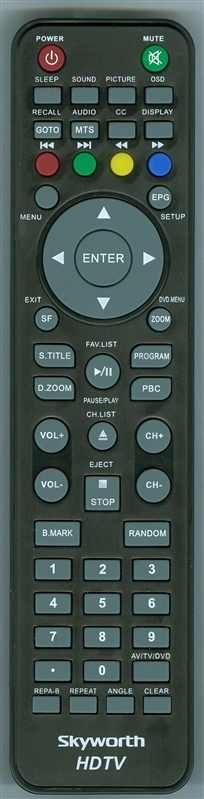 SKYWORTH SLC1919A3SV2 Genuine OEM Original Remote