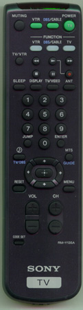SONY 1-473-748-31 RM-Y135A Genuine  OEM original Remote