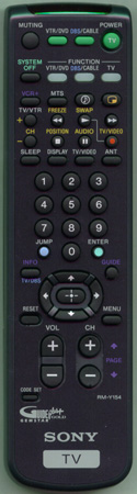 SONY 1-475-930-11 RM-Y154 Genuine  OEM Original Remote