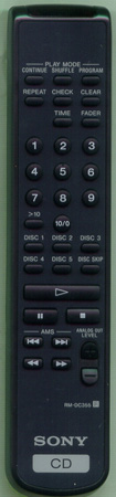 SONY 1-476-132-11 RMDC355 Genuine OEM Substitute Remote