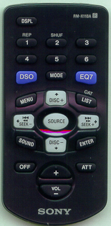 SONY 1-477-110-42 RM-X118A Genuine  OEM Original Remote
