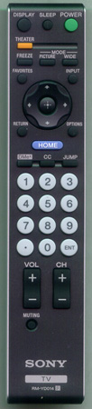 SONY 1-480-166-11 RM-YD014 Genuine  OEM Original Remote