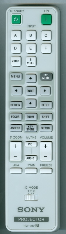 SONY 1-489-092-11 RM-PJ19 Genuine  OEM Original Remote