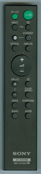 SONY 1-492-930-11 RMT-AH100U Genuine  OEM original Remote