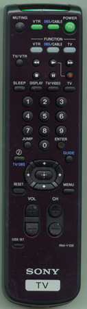 SONY 8-917-532-90 RM-Y135 Genuine  OEM Original Remote