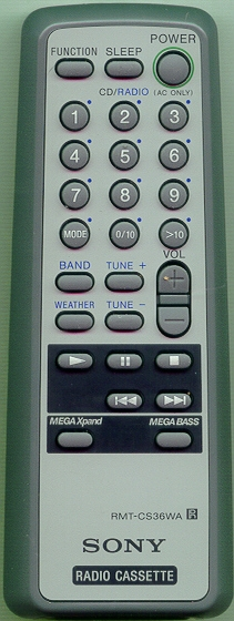 SONY A-3258-085-A RMTCS36WA Genuine OEM Original Remote