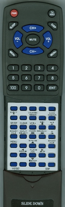 SONY 1-418-154-31 RMT-V267B  Custom Built  Redi Remote
