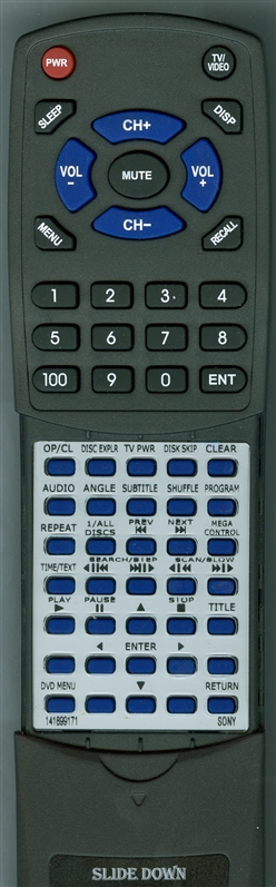 SONY 1-418-991-71 RMT-D119A Custom Built Redi Remote
