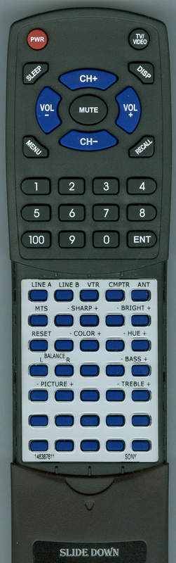 SONY 1-463-876-11 RM-U72 Custom Built Redi Remote