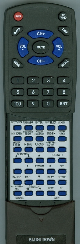 SONY 1-465-473-11 RMT-V575A Custom Built Redi Remote